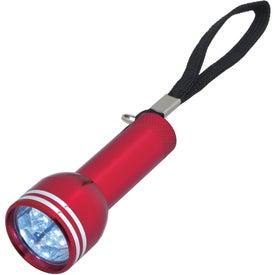 Monogrammed Mini Mega Aluminum LED Light with Strap