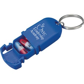Mini Pill Holder Keychain for Customization