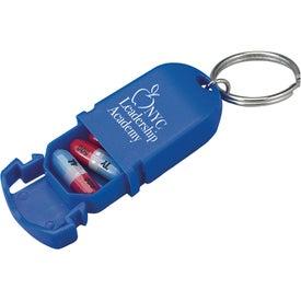 Mini Pill Holder Keychain for Customization