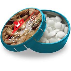 Mini Tek Klick Mint Tin with Your Slogan