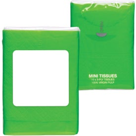 Mini Tissue Packet Branded with Your Logo