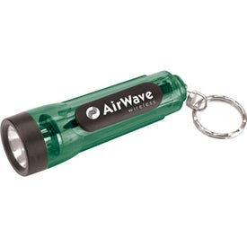 Mini Translucent Flashlight Keychain Giveaways