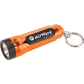 Mini Translucent Flashlight Keychain with Your Slogan