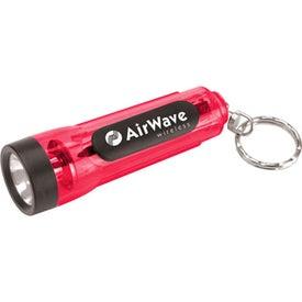 Mini Translucent Flashlight Keychain with Your Slogan