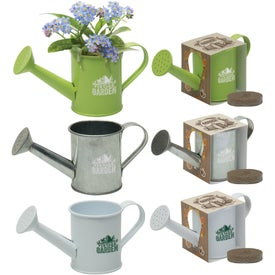 Mini Watering Can Blossom Kit Printed with Your Logo