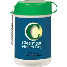 Imprinted Mini Wet Wipe Canister