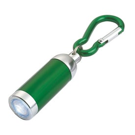 Printed Mini Aluminum LED Light With Matching Carabiner