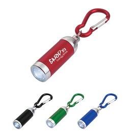 Mini Aluminum LED Light With Matching Carabiner