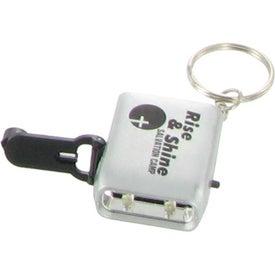 Mini Dynamo LED Flashlight Keychain for your School