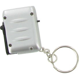 Imprinted Mini Dynamo LED Flashlight Keychain
