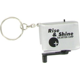Mini Dynamo LED Flashlight Keychain for Advertising