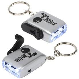 Mini Dynamo LED Flashlight Keychain with Your Logo