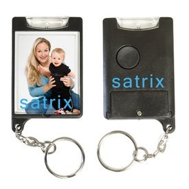 Mini Flashlight Snap-In Photo Keytag Branded with Your Logo