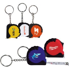 Mini Grip Tape Measure Keychain for Your Company