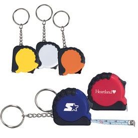 Branded Mini Grip Tape Measure Keychain