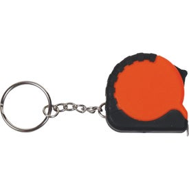 Personalized Mini Grip Tape Measure Keychain