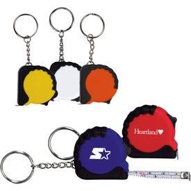 Mini Grip Tape Measure Keychain
