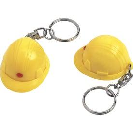 Imprinted Mini Hard Hat Key Chain
