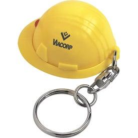 Personalized Mini Hard Hat Key Chain