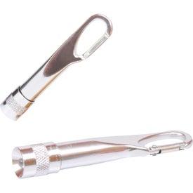 Mini Metal Carabiner Flashlight for Advertising
