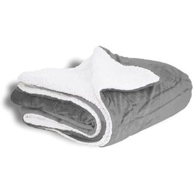 Mink Sherpa Blanket Branded with Your Logo