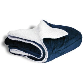 Branded Mink Sherpa Blanket