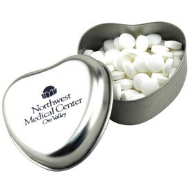 Monogrammed Mints in a Heart Tin