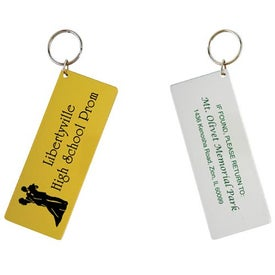 Mirror Finish Ticket Keytag