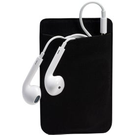 Logo Mobile Device Pocket and Earbuds Set