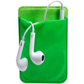 Branded Mobile Device Pocket and Earbuds Set