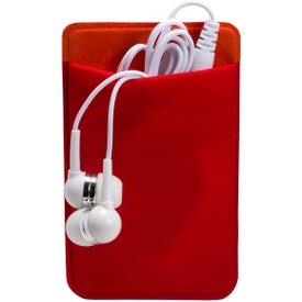 Monogrammed Mobile Device Pocket and Earbuds Set