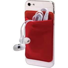 Advertising Mobile Device Pocket and Earbuds Set