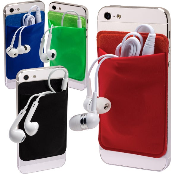 Mobile Device Pocket and Earbuds Set