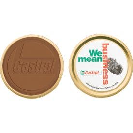 Round Custom Chocolate in Metal Tin (2 Oz.)