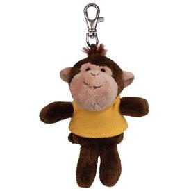 Monkey Plush Key Chain