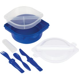 Multi-Compartment Food Container with Utensils Giveaways