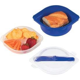 Multi-Compartment Food Container with Utensils for Your Church