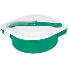 Multi-Compartment Food Container with Utensils for Your Organization