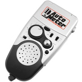 Multi Functional AM/FM Travel Companion with Your Slogan