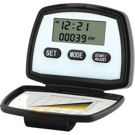 Logo Multiple Functions Pedometer With 2 Line Display