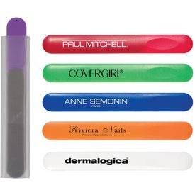Customized Nail File in Plastic Sleeve