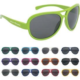 Imprinted Navigator Sunglasses