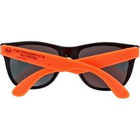 Monogrammed Neon Rubber Sunglasses