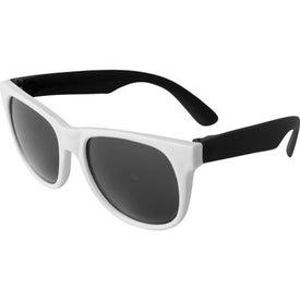 Personalized Neon Sunglass White Frame