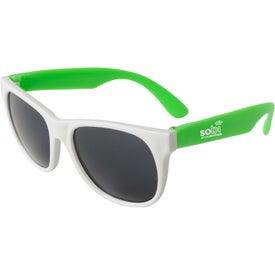 Neon Sunglass White Frame for Customization