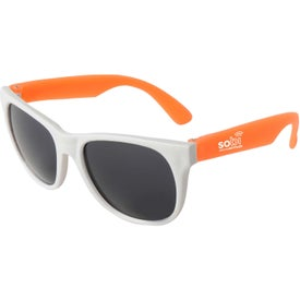 Branded Neon Sunglass White Frame