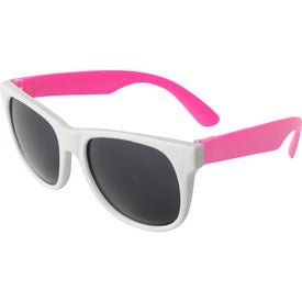 Neon Sunglass White Frame for your School