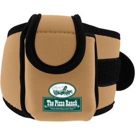 Branded Neoprene Cell Phone Holder with Large Strap