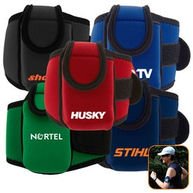 Neoprene Cell Phone Holder with Large Strap Branded with Your Logo