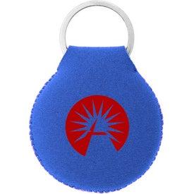 Imprinted Neoprene Disc Key Chain